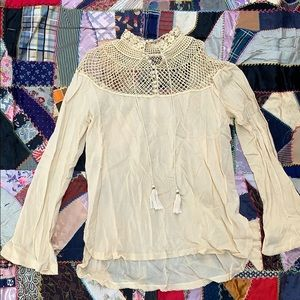 Free People Antique Inspired Boho Blouse